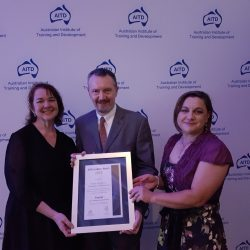Presenting the finalist certificate at AITD Award dinner 2016.